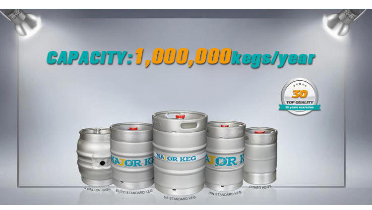 German Standard 100% Anti Corrosion Stainless Steel 50L Beer Keg