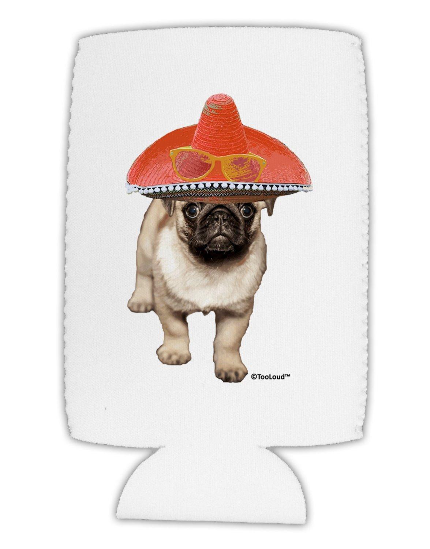 TOOLOUD Pug Dog with Pink Sombrero Toddler T-Shirt Dark