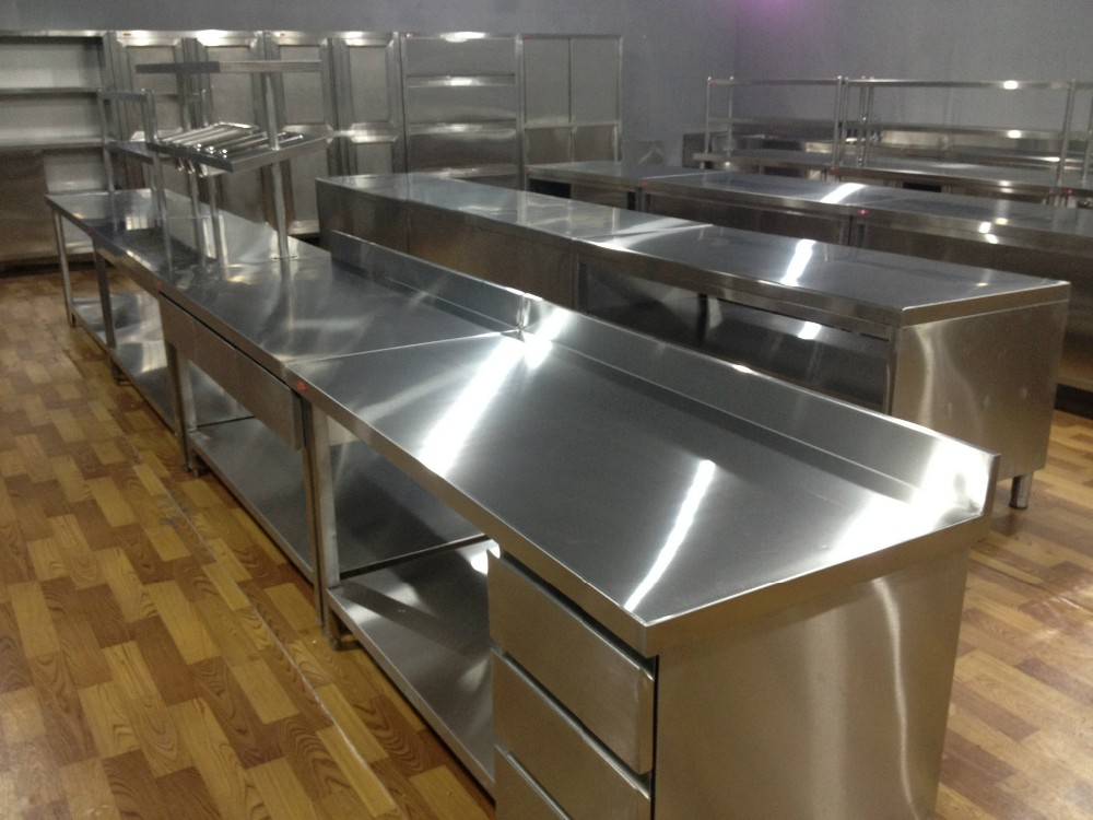 Kitchen Equipment Work Bench Restaurant Stainless Steel Table Wort Cabinet