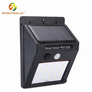 Hot Sale 18650 Rechargeable Battery Powered Waterproof IP65 Small 20 led PIR Motion Solar Sensor Wall Light