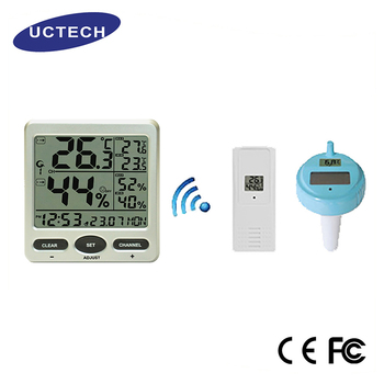 Ft0071-2x Indoor/outdoor Remote Wireless 433mhz Min Max Record Water Pool  Sensor Temperature Thermo Humidity - Buy Indoor/outdoor