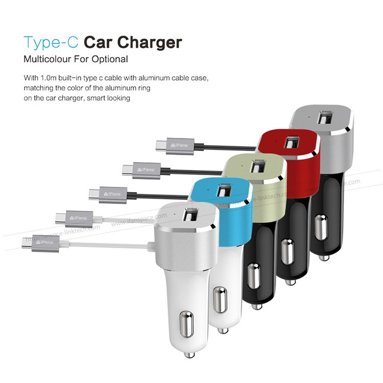 Private mould New 30W C type USB Car charger with extensional Type C cord for iMac PC