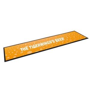 Tigerwings washable welcome portable used nitrile rubber bar mat for sale manufacturer