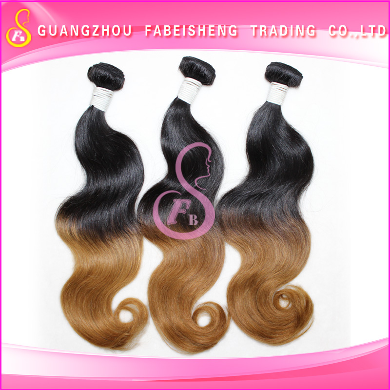 ew 5A Brazilian Vrigin Remy Ombre Deep Curl Human Hair Bundle Two Tone colors Curly Hair Weave Weft