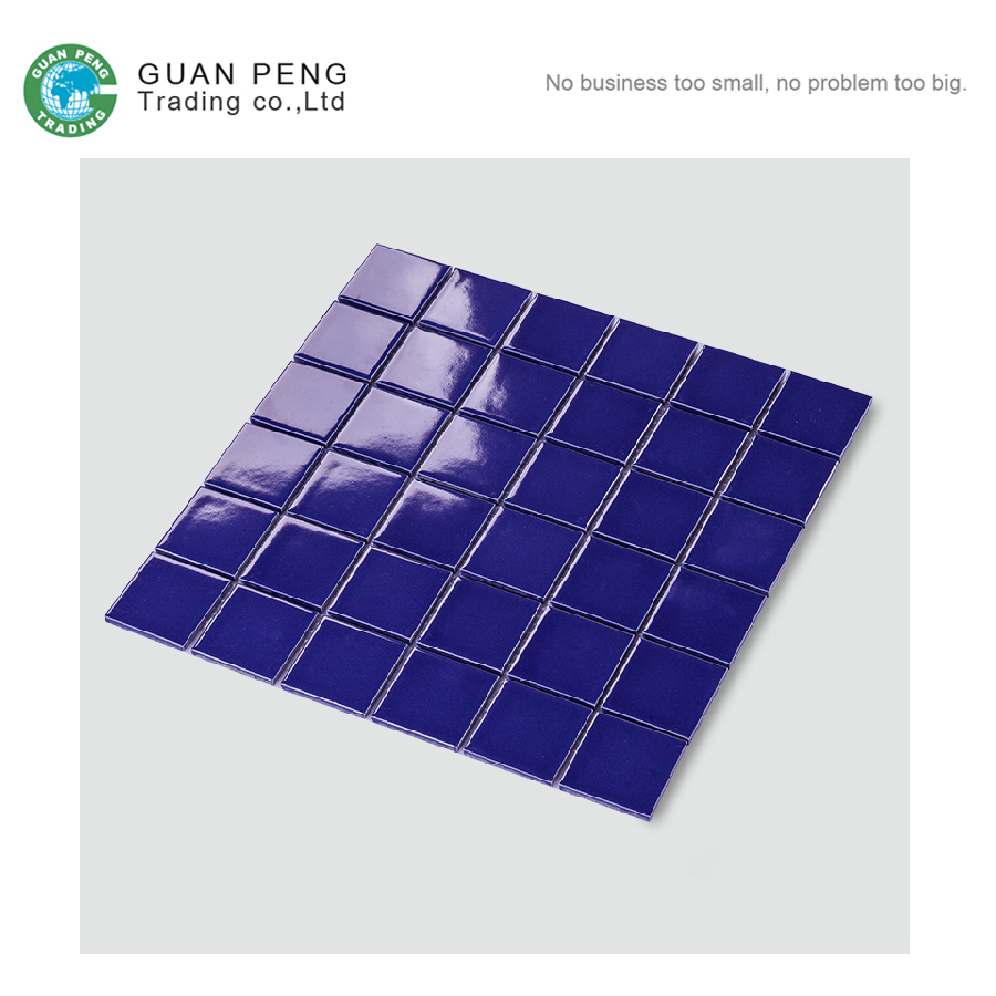 Discontinued Porcelain Purple Color Mosaic Pool Tile For Swimming Pool