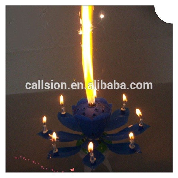 High quality new year indoor fireworks birthday cake candles for long burning