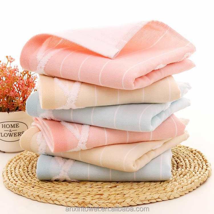 Wholesale Stock Bathroom Small Soft Cotton Hand Towel Face Towel