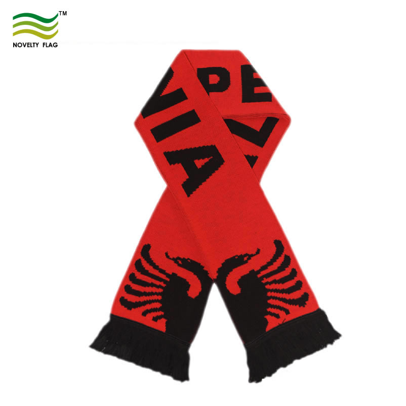 Football Fans National Polyester Custom Long Scarf