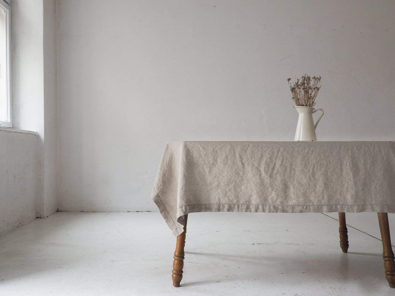 Extra natural linen 100% European linen tablecloth, custom sizes tablecloth, wedding tablecloth, christmas tablecloth, table decoration