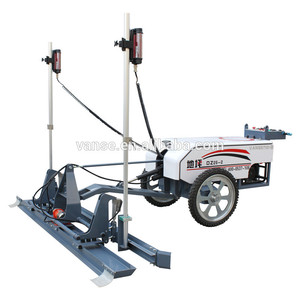Two wheel concrete laser screed