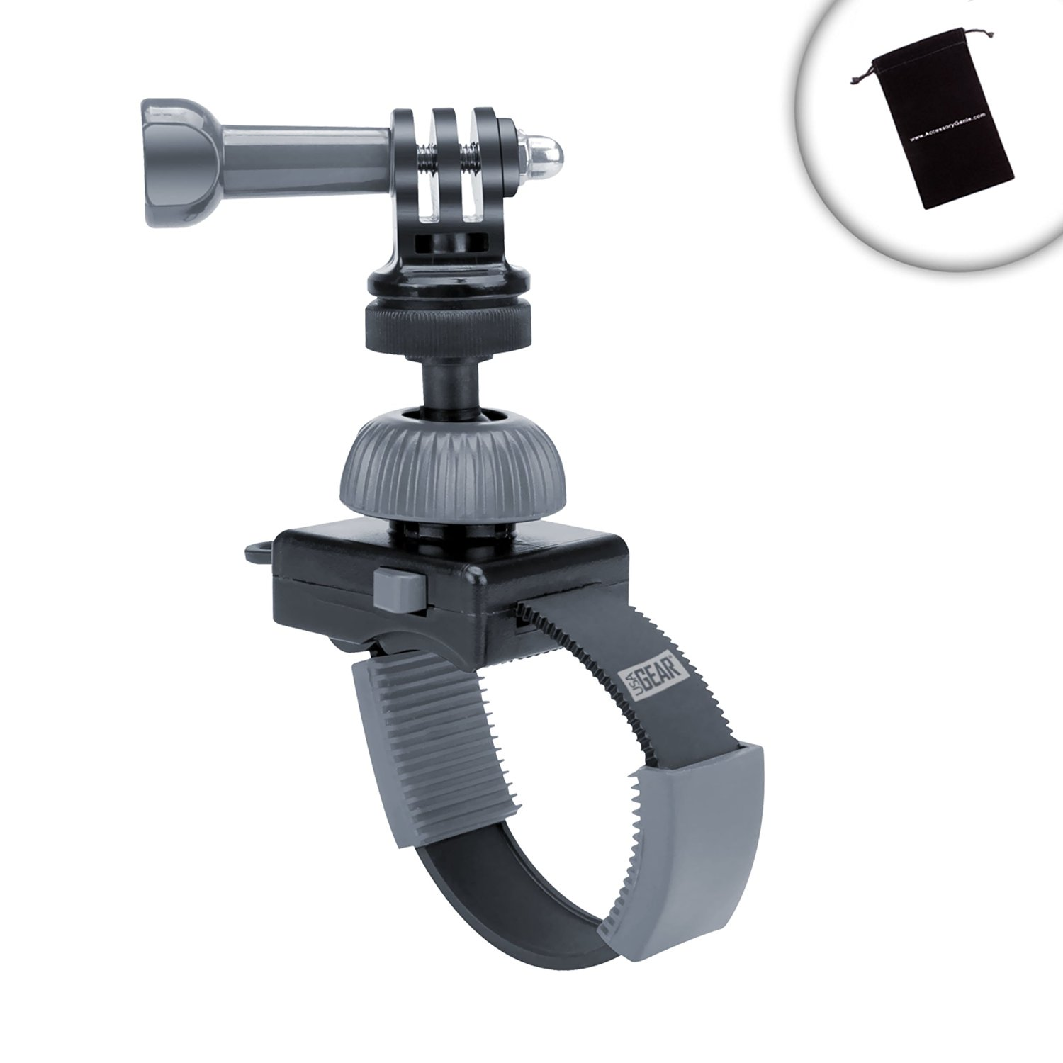 Zipper Style Tough Camera Mount with 360 Degree Rotating Ball Head by USA Gear - Works With Sony Cyber-shot DSC-TX30 , Canon PowerShot D30 , Nikon Coolpix S33 and More