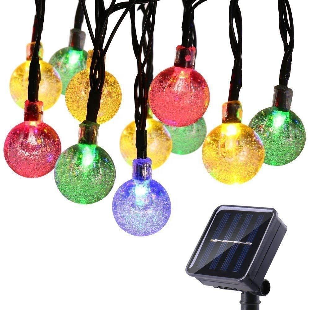 6.5m 30 Crystal Balls Waterproof Solar Globe LED Fairy String Lights for Home, Garden, Yard Party Wedding