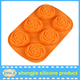 Christmas decorate rose shaped silicone cup cake mold