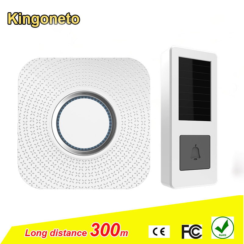 China supplier Alibaba B12 300 working range wireless 52 ringtones with plug solar power source door bell water-proof with LED