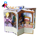 Printing Custom Recycled Paper Full Color Child Thick Cardboard English Pop-up Book Wholesale