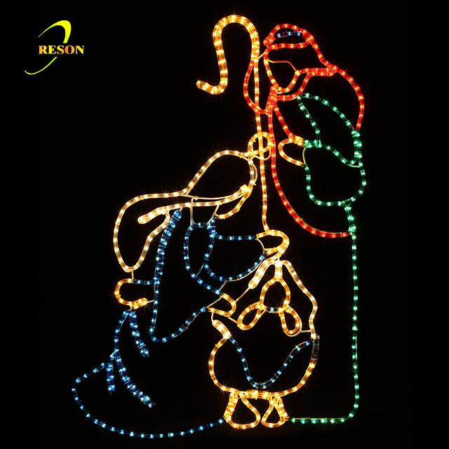 Wide LED Birth of Jesus Scene Nativity Christmas Motif Rope Lights - Wide Led Birth Of Jesus Scene Nativity Christmas Motif Rope Lights