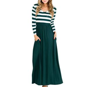Latest Falls Long Sleeve Jersey Kerala Maxi Dresses Woman