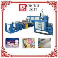 spun laced non woven fabric cotton coating laminating machine