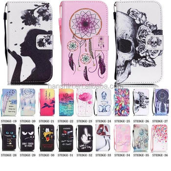 Fashionable Color Pattern Card Holder Flip Leather Case for Samsung Galaxy S7&S7 Edge