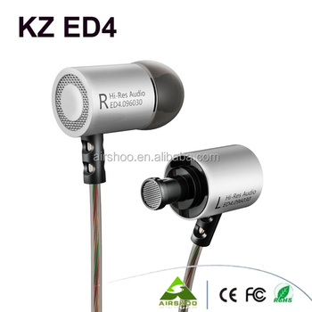 100% Original KZ ED4 In-Ear Stereo Earphone With Mic Music Headsets For iaomi For IPhone SE 5s 6 6s MP3 HIFI Bass ecouteurs