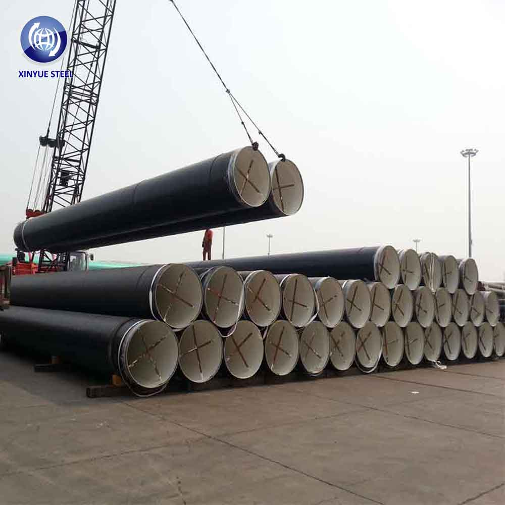 ASTM A252 GR 2 SSAW Spiral Welded Piling Pipes, 42 Inch Large Diameter Black Carbon Steel Tubes