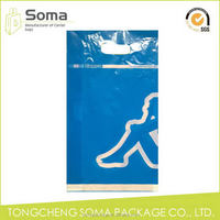 Special design new products fold over die cut plastic bag