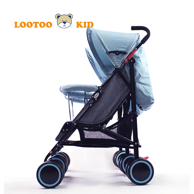 China aluminum frame foldable stroller babies twins strollers / baby stroller double seat
