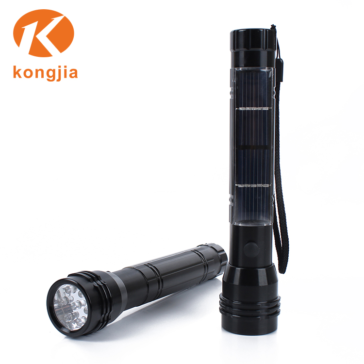 Emergency Mobile Power Bank Charger Slot Flashlight 7 Led Solar Torch with Radio