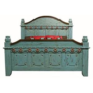 King Size Turquoise Grand Bed