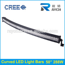 50 pollici 288w curvo offroad barre led curvo led light bar 288w
