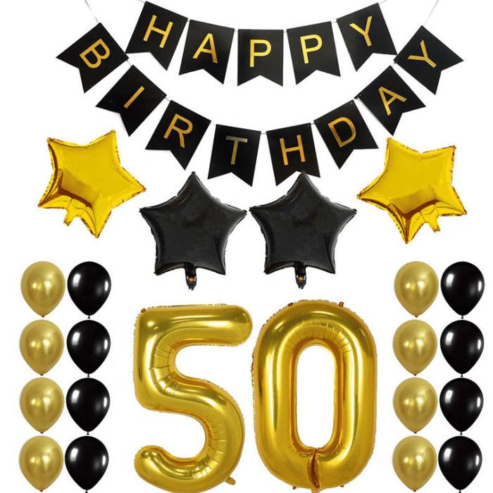 Party Supplies Black Balloon Set Elegant Wall Decor 50th Birthday Decorations