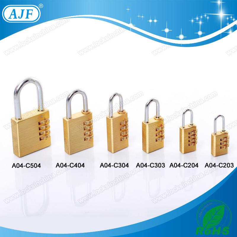 Popular for European market-AJF High security brass silver door code lock