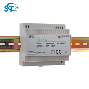 Fully CE marked 24v din rail 100w 4.15amp regulated power supply for CCTV Camera&Home Automation