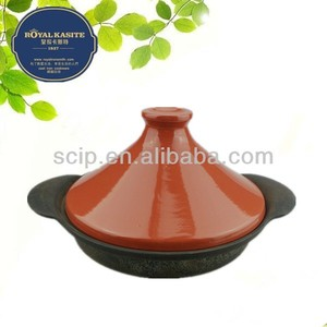 cast iron ribbed skillet wholesale with plastic cover