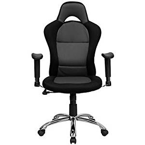 Roosevelt Computer Chair in Mesh Fabric with Headrest