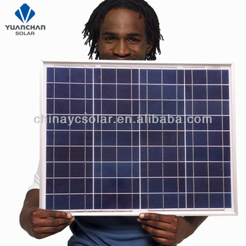 Top quality 50 watt solar panel poly for a system