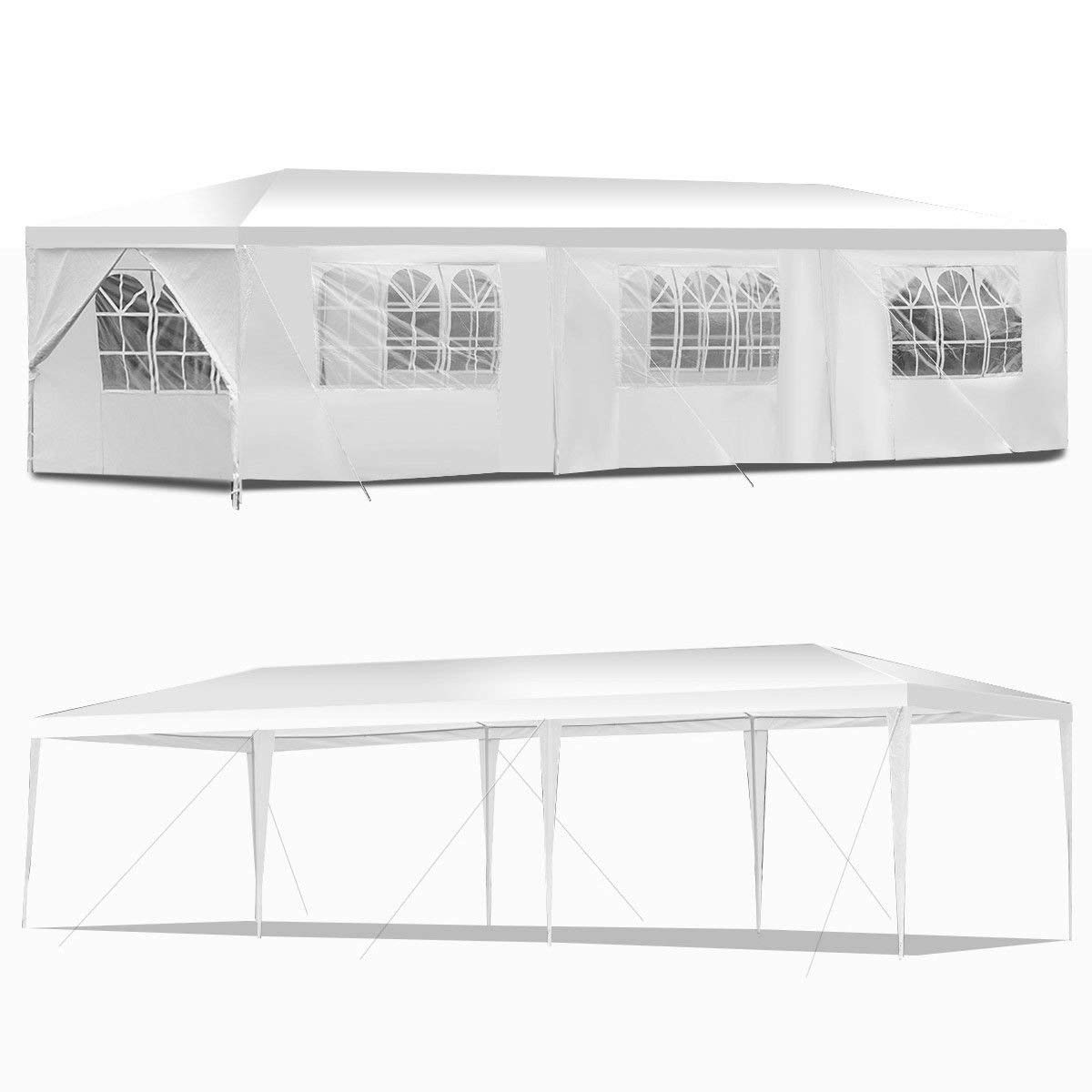 KCHEX>10'x30' Canopy Party Wedding Tent Outdoor Heavy Duty Gazebo Events>This is Our Brand New and 10'x30' Canopy Wedding Party Tent can be conveniently Carried and are Perfect for Many o