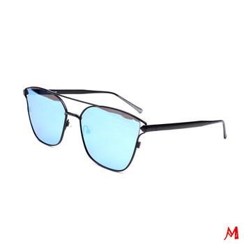 HONG Occhiali da sole piatta lente ottica metà telaio all-in-one square occhiali da sole, D.