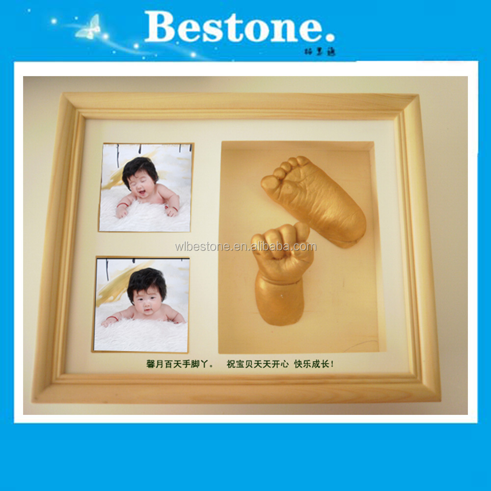 Hot Modern baby 3D handprint with high quality frame