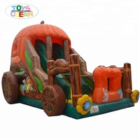 colorful children inflatable slide for outdoor activities
