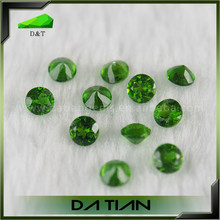 wholesale high quality natural 1.25mm round cut green diopside