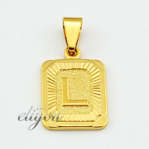 Cheap square gold pendant find square gold pendant deals on line new fashion jewelry mens womens square pendant w l letter 18k yellow gold filled aloadofball Gallery