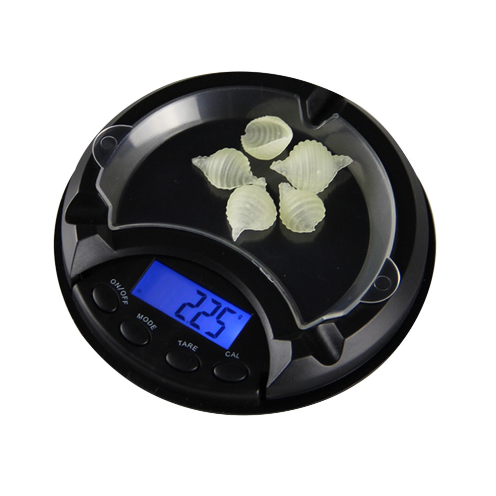 100/200/300/500g x 0.01g LCD Digital Jewelry Gold Sterling Silver  Electronic Ashtray Mini Pocket Scales