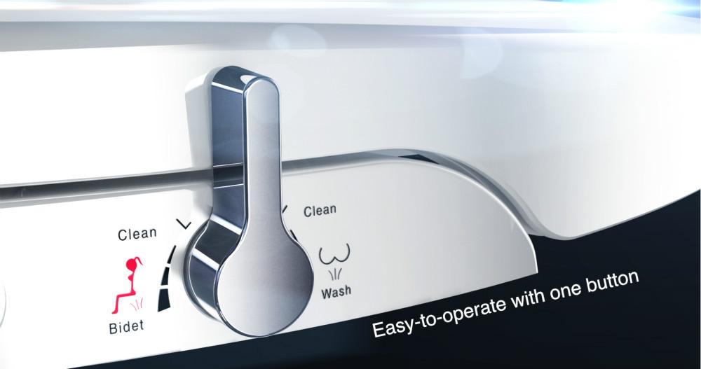 Elektrikli Olmayan mekanik bide tuvalet eki Kendini Temizleme klozet çift meme su püskürtme