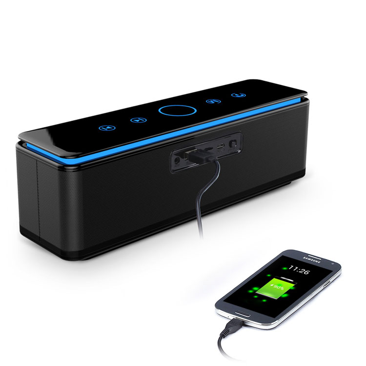 Hoge kwaliteit Ijveraar draadloze luidsprekers LED waterdichte bluetooth speaker