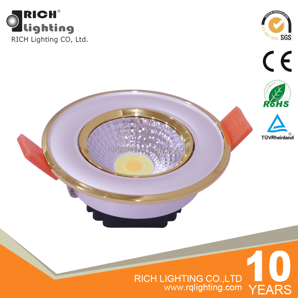 Chinese Supplier Best New Design 5W Decorative Pearl White+Golden Multi Color Led Ceiling Lighting Lamp