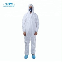 single use in Chemical room disposable protective clothing/PP SMS Anti static Fire Retardant Coverall