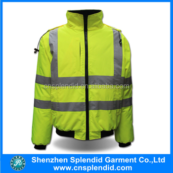 Custome high visibility jacket waterproof bomber jacket wholesale