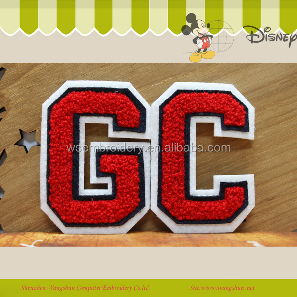 Tag Usa Fabric Embroidery Heart Applique/patch/badge/emblem