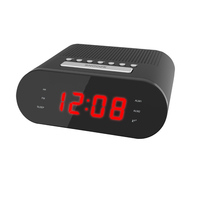 Desktop Alarm Clock with Radio